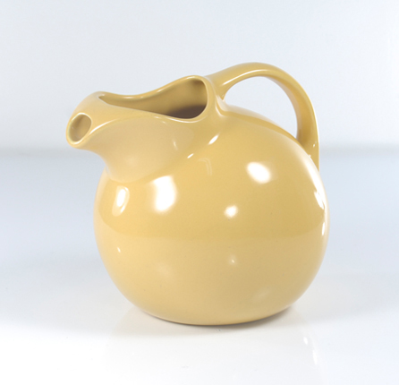 Vintage Hall ceramic Ball pitcher in warm yellow